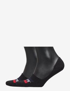 LEVIS LOW RISE SPORTWR LOGO 2P - ankle socks - black
