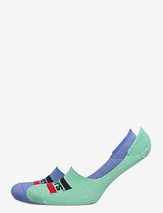 LEVIS LOW RISE SPORTWR LOGO 2P - skarpety za kostkę - riverside blue