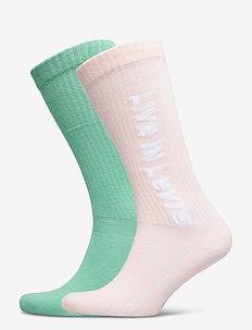 LEVIS VINTAGE CUT SPRT SOCK UNISEX - regular socks - pink combo
