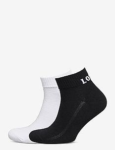LEVIS MID CUT SPRT SOCK UNISEX 2P - ankle socks - white / black