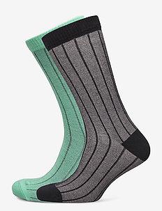 LEVIS REGULAR CUT VERTICAL BIRDSEYE - vanlige sokker - black