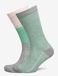 LEVIS REGULAR CUT COLOR DIP 2P - regular socks - pink combo