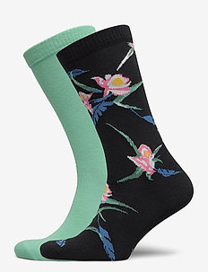 LEVIS REGULAR CUT TROPICAL PRINT 2P - normale sokken - black