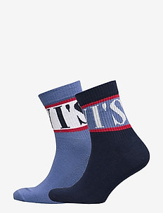 LEVIS SHORT SOCK SPORT STRIPE 2P - regular socks - blue