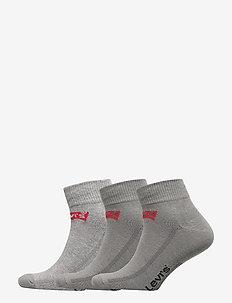 LEVIS MID CUT BATWING LOGO 3P - normale sokken - middle grey melange