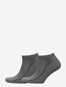 LEVIS 168SF LOW CUT 2P - knöchelsocken - middle grey melange