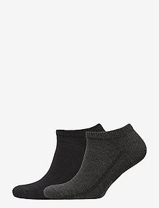 LEVIS 168SF LOW CUT 2P - chaussette de cheville - anthracite melange / black