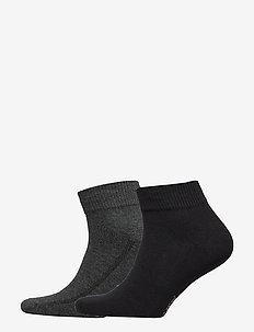 LEVIS 168SF MID CUT 2P - regular socks - anthracite melange / black