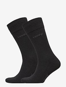 LEVIS 168SF REGULAR CUT 2P - chaussettes régulières - jet black