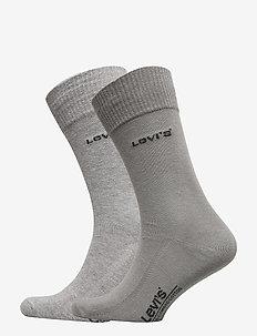 LEVIS 168SF REGULAR CUT 2P - chaussettes régulières - middle grey melange