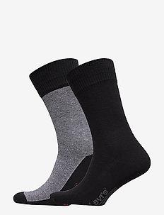 LEVIS 168SF REGULAR CUT MICRO STRIP - regular socks - jet black