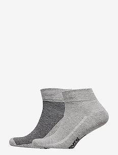 LEVIS 168SF MID CUT MICRO STRIPE 2P - regular socks - anthracite melange / black
