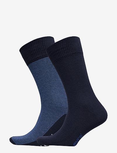 LEVIS 168SF REGULAR CUT MICRO STRIP - crew sokken - blue depths