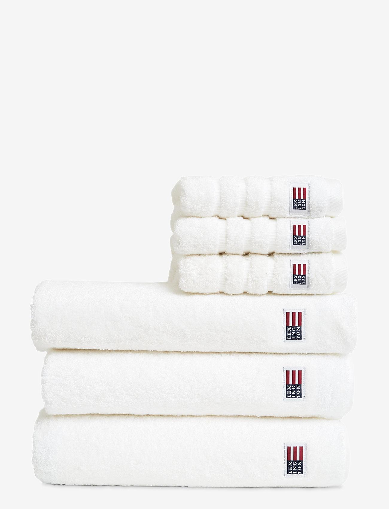 Lexington Home - Original Towel White - pyyhkeet & kylpypyyhkeet - white - 0