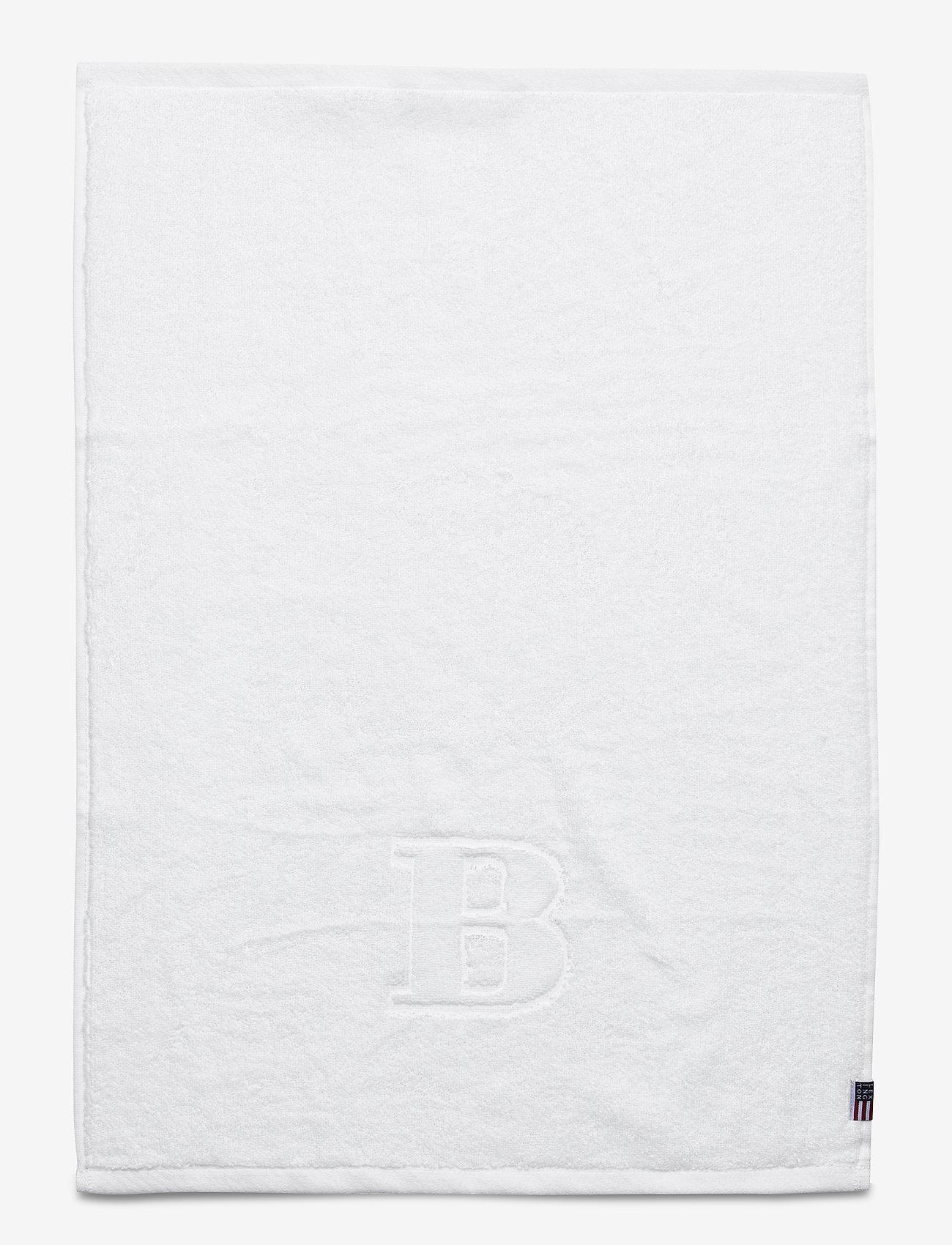 Lexington Home - Monogram Towel Letter B - ręczniki kąpielowe - white - 0