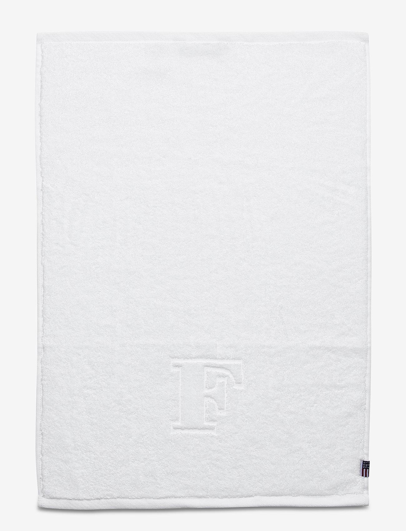 Lexington Home - Monogram Towel Letter F - towels - white - 0