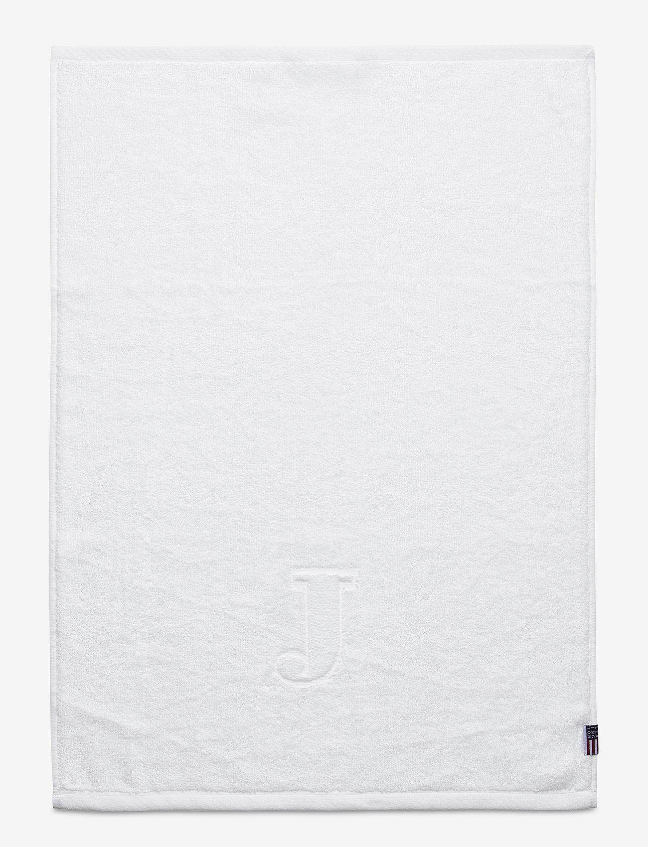 Lexington Home - Monogram Towel Letter J - ręczniki kąpielowe - white - 0