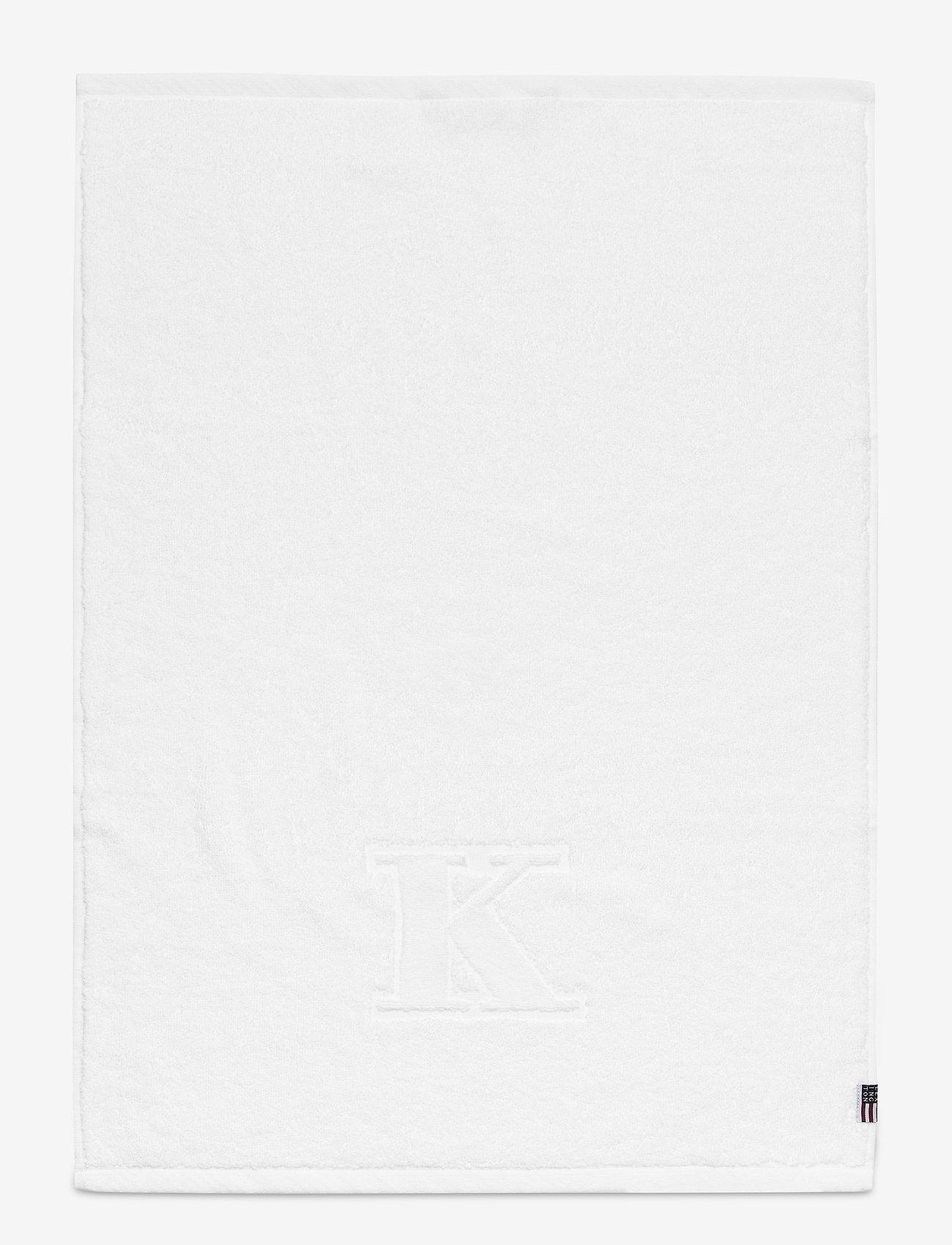 Lexington Home - Monogram Towel Letter K - ręczniki kąpielowe - white - 0