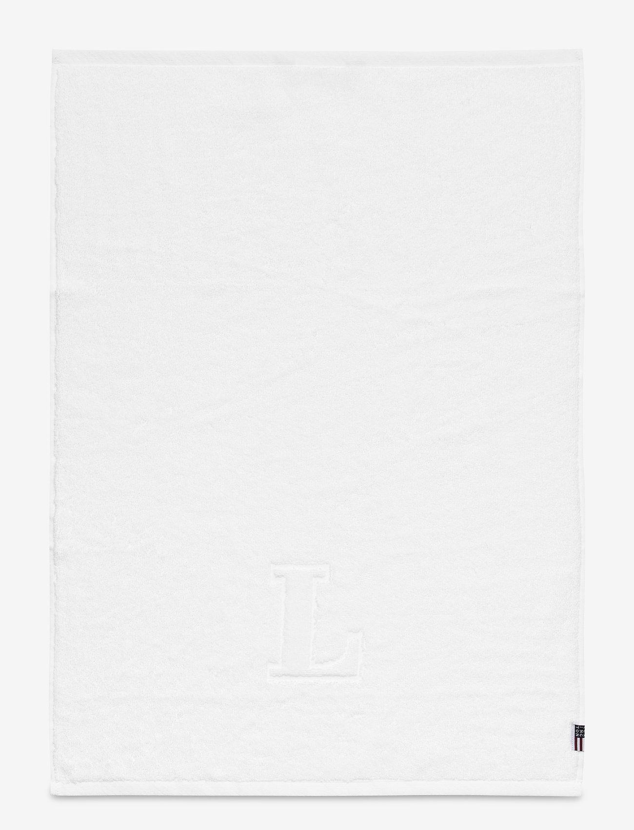 Lexington Home - Monogram Towel Letter L - hand towels & bath towels - white - 0