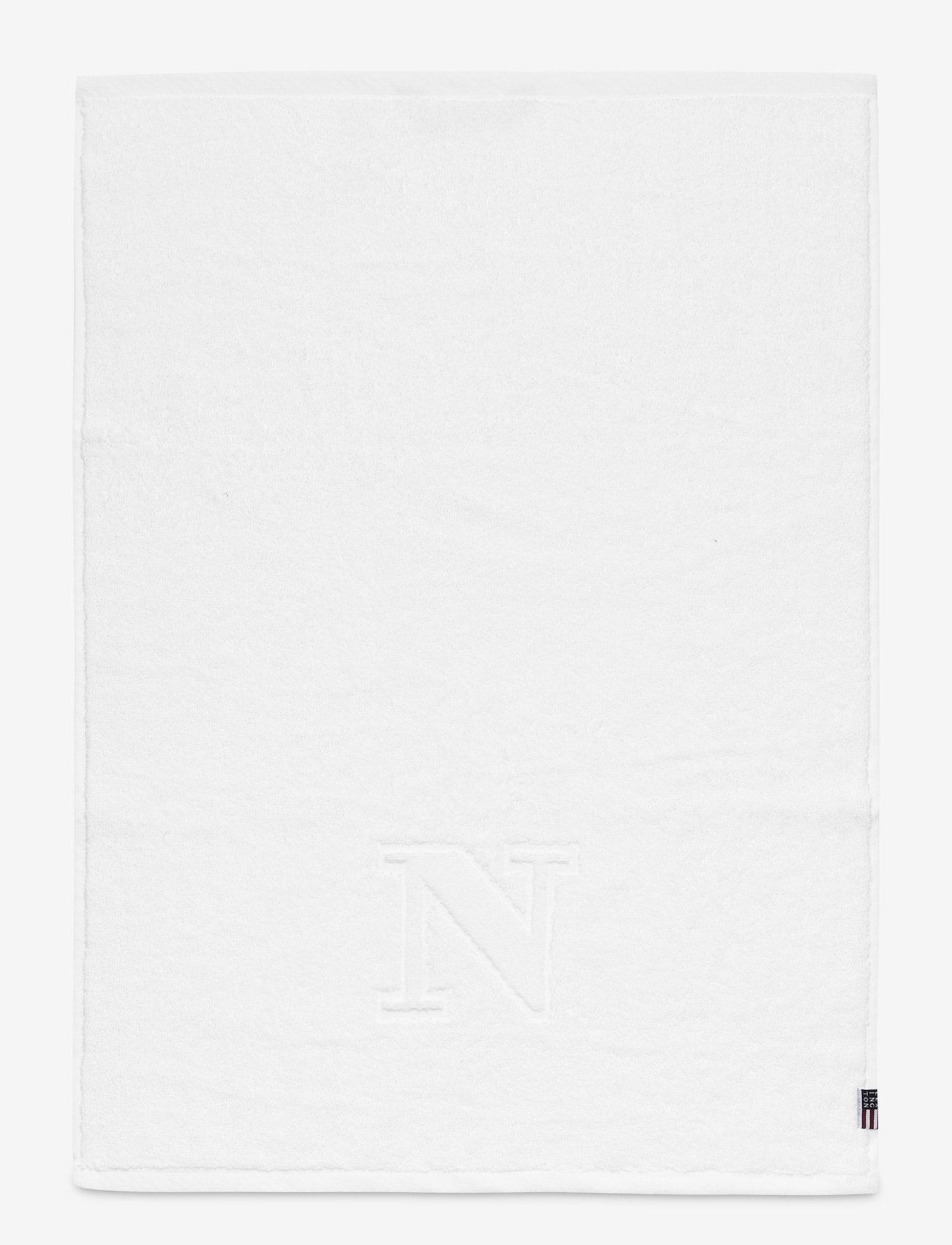 Lexington Home - Monogram Towel Letter N - ręczniki kąpielowe - white - 0