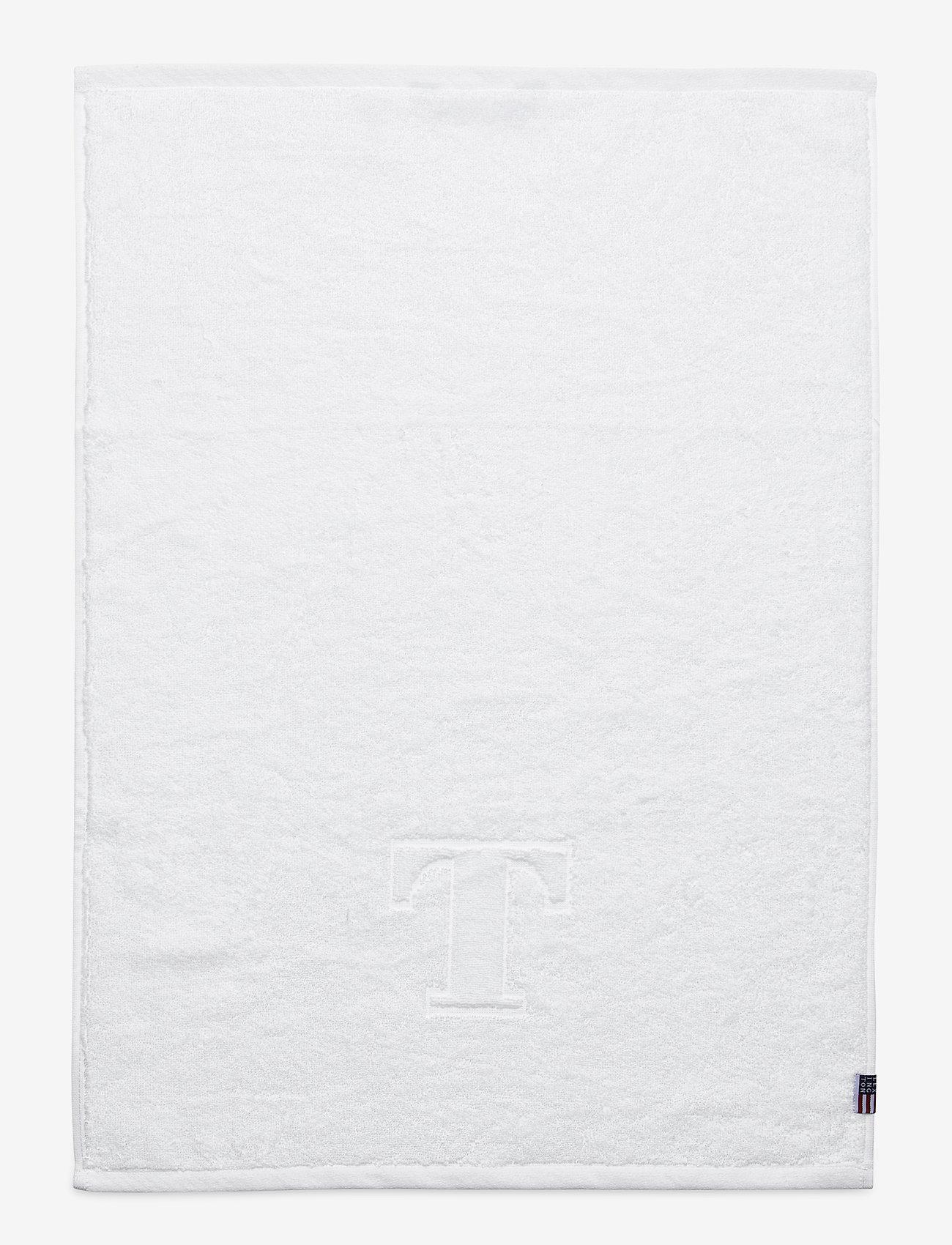 Lexington Home - Monogram Towel Letter T - hand towels & bath towels - white - 0