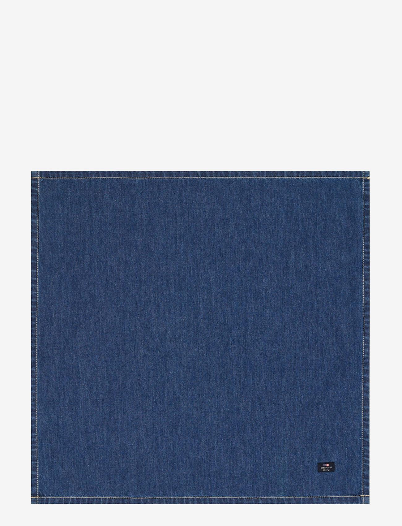 Lexington Home - Icons Cotton Twill Denim Napkin - pöytätabletit - denim blue - 0