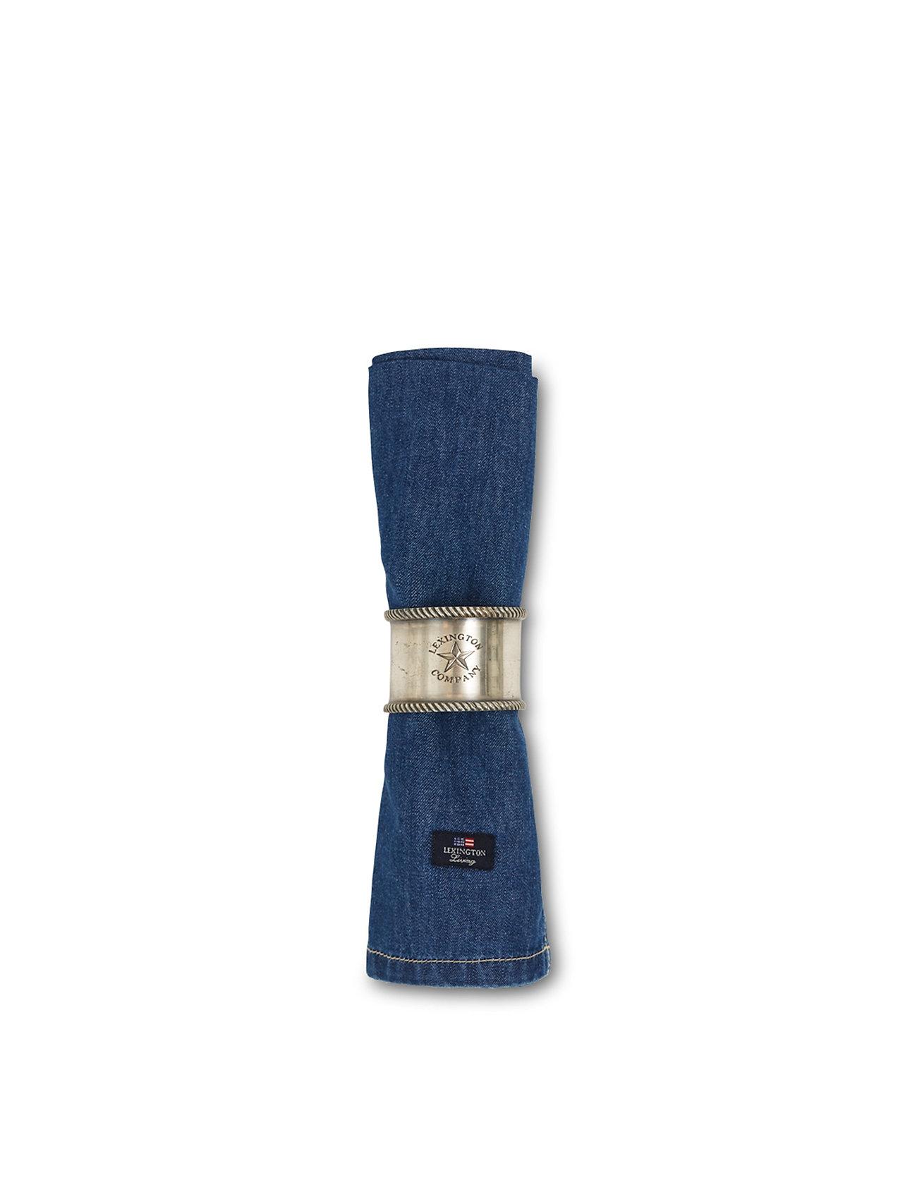 Lexington Home - Icons Cotton Twill Denim Napkin - pöytätabletit - denim blue - 1