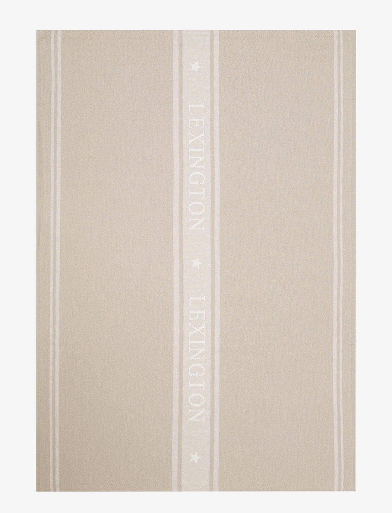 Lexington Home - Icons Cotton Jacquard Star Kitchen Towel - keittiöpyyhkeet - beige/white - 0
