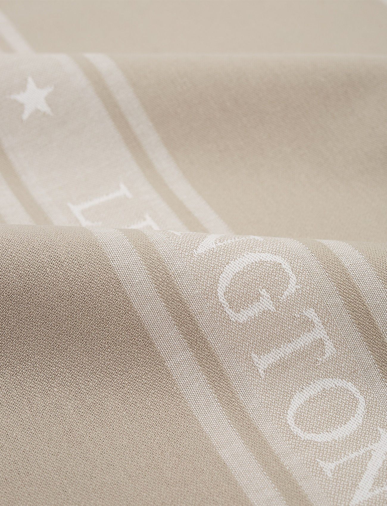 Lexington Home - Icons Cotton Jacquard Star Kitchen Towel - keittiöpyyhkeet - beige/white - 1