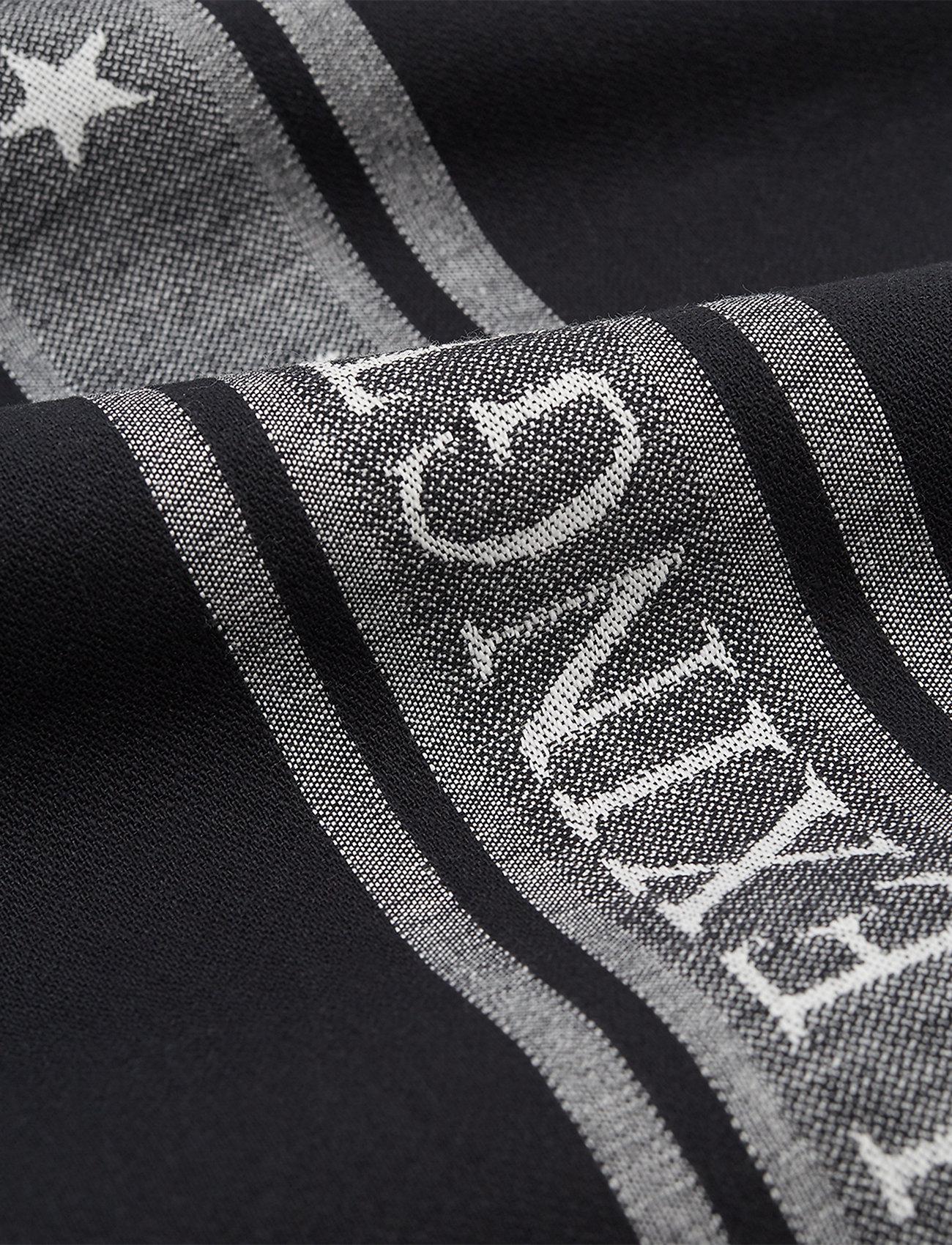 Lexington Home - Icons Cotton Jacquard Star Kitchen Towel - keittiöpyyhkeet - black/white - 1