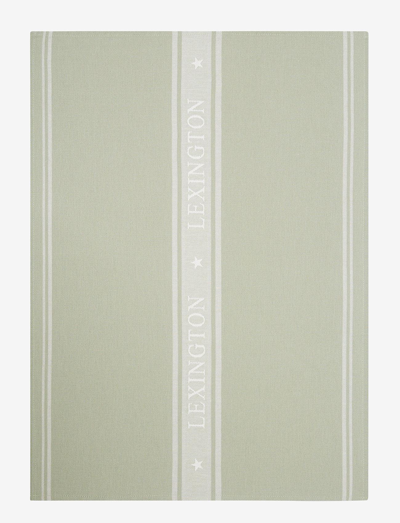 Lexington Home - Icons Cotton Jacquard Star Kitchen Towel - keittiöpyyhkeet - sage green/white - 0