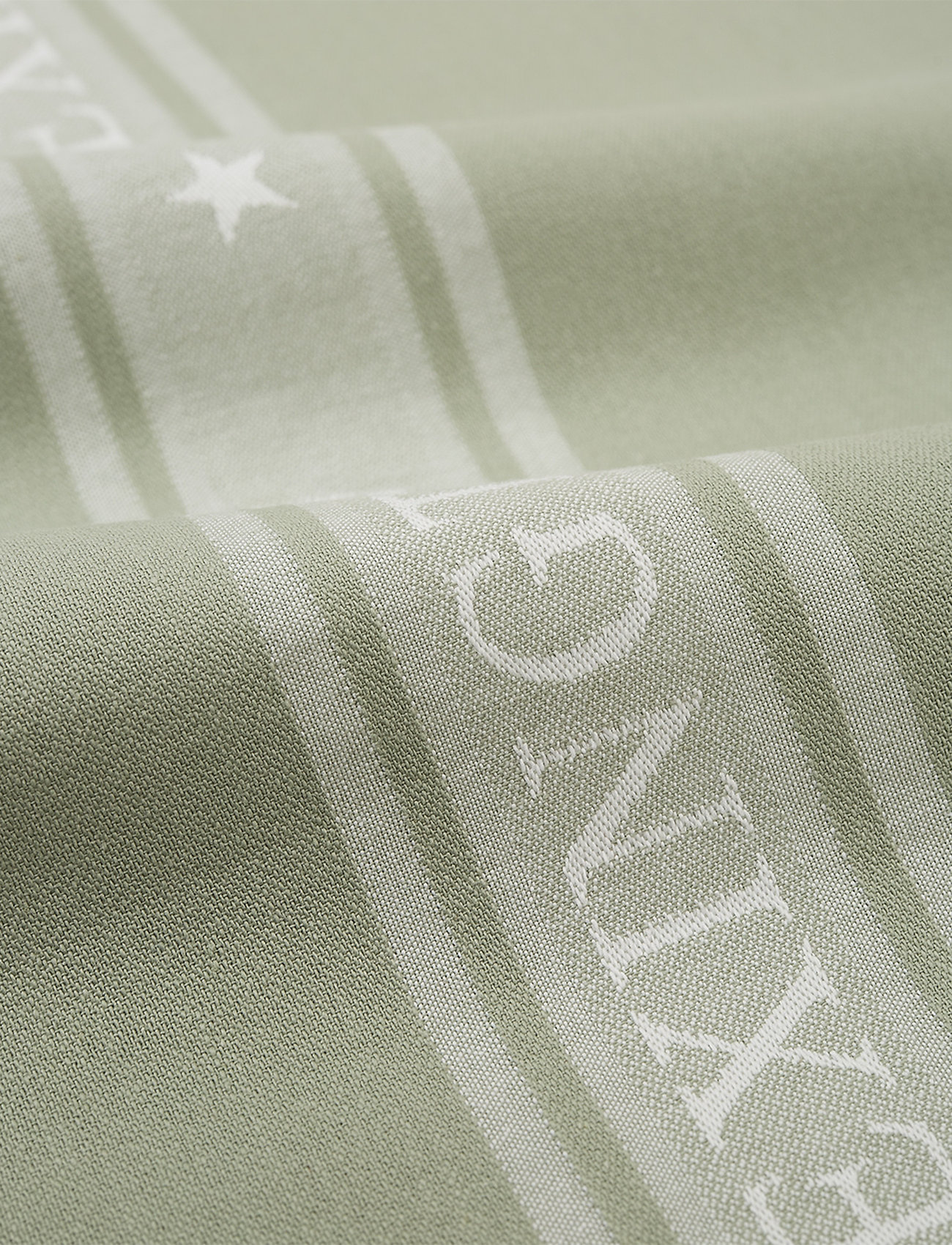 Lexington Home - Icons Cotton Jacquard Star Kitchen Towel - ręczniki kuchenne - sage green/white - 1