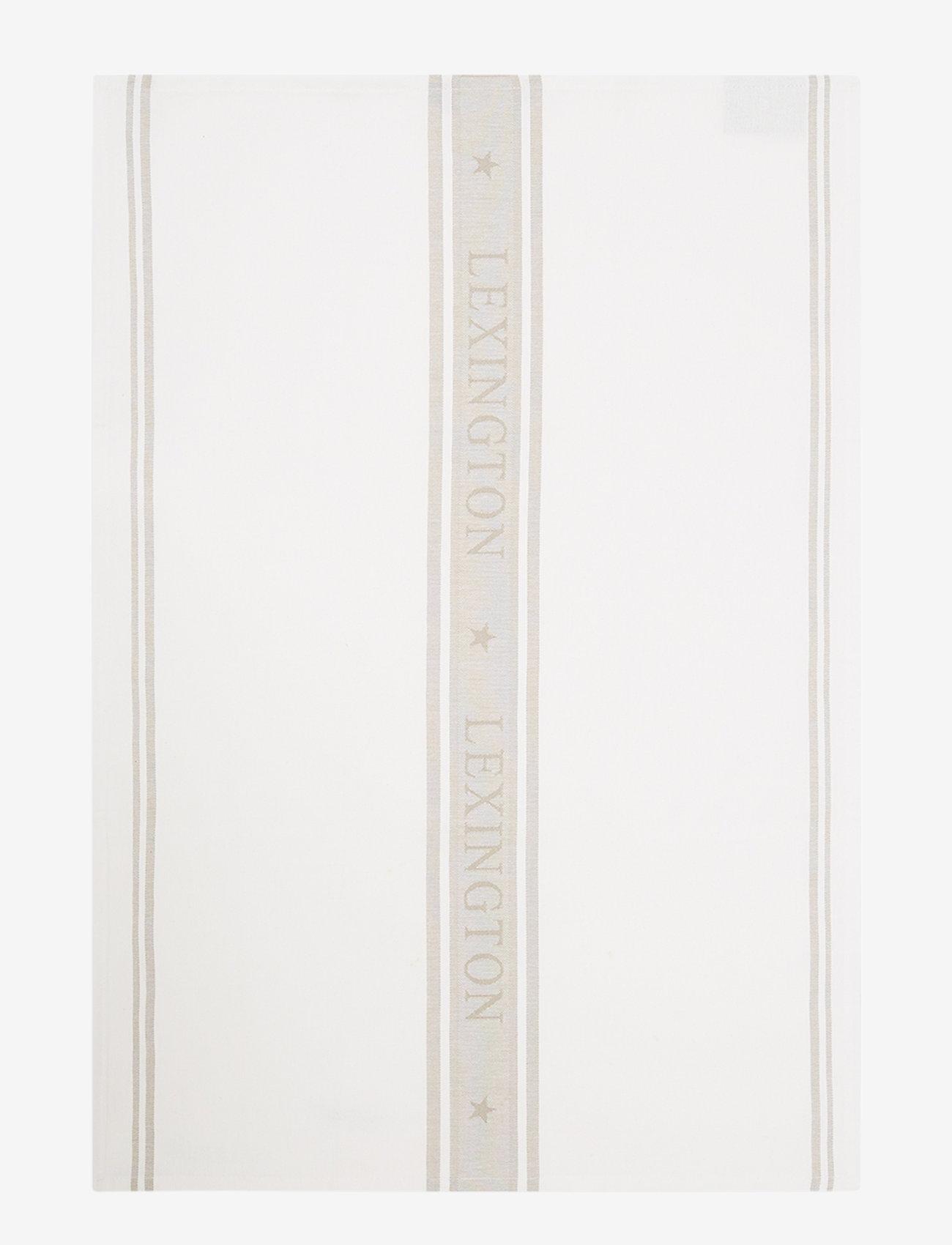 Lexington Home - Icons Cotton Jacquard Star Kitchen Towel - keittiöpyyhkeet - white/beige - 0
