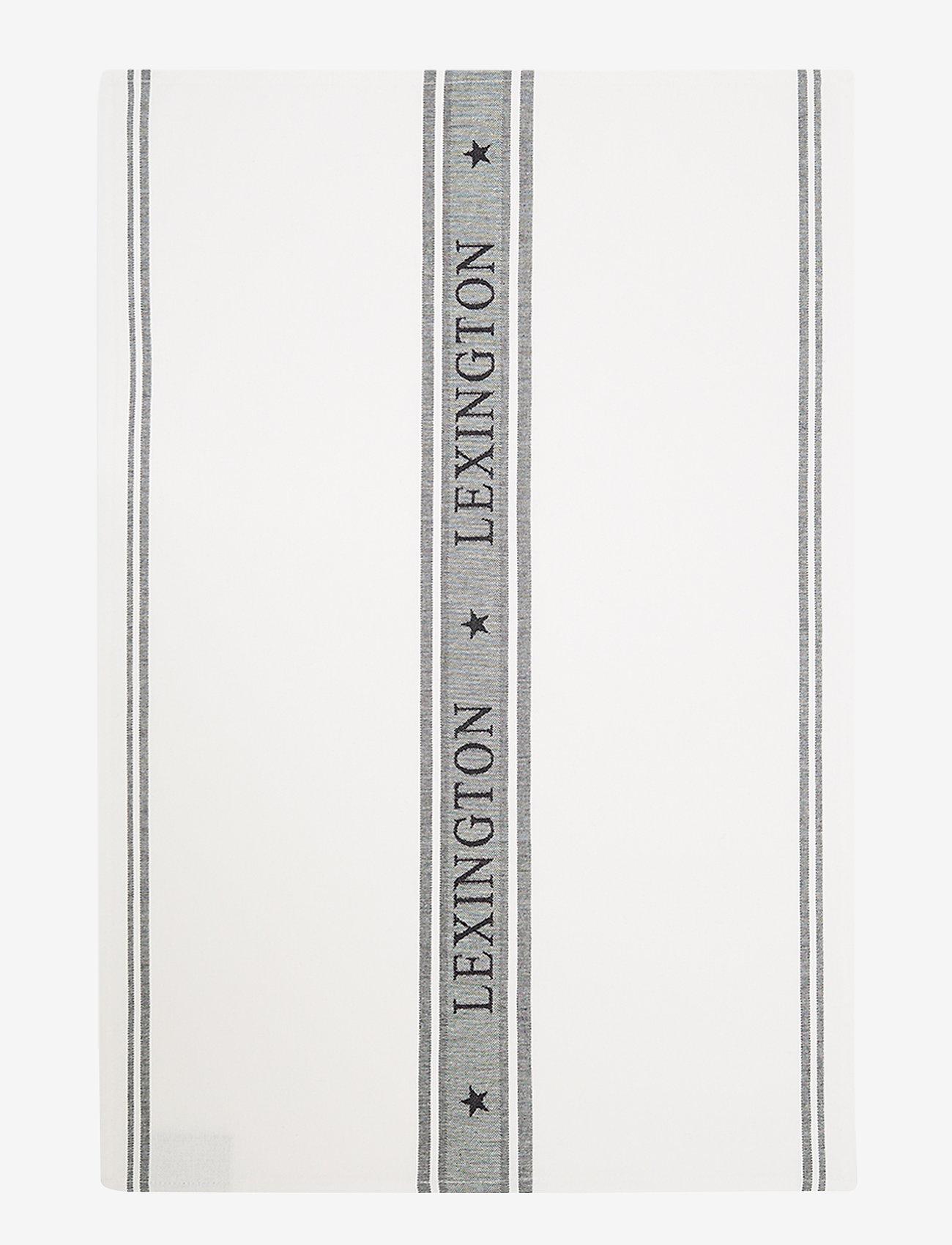 Lexington Home - Icons Cotton Jacquard Star Kitchen Towel - keittiöpyyhkeet - white/black - 0