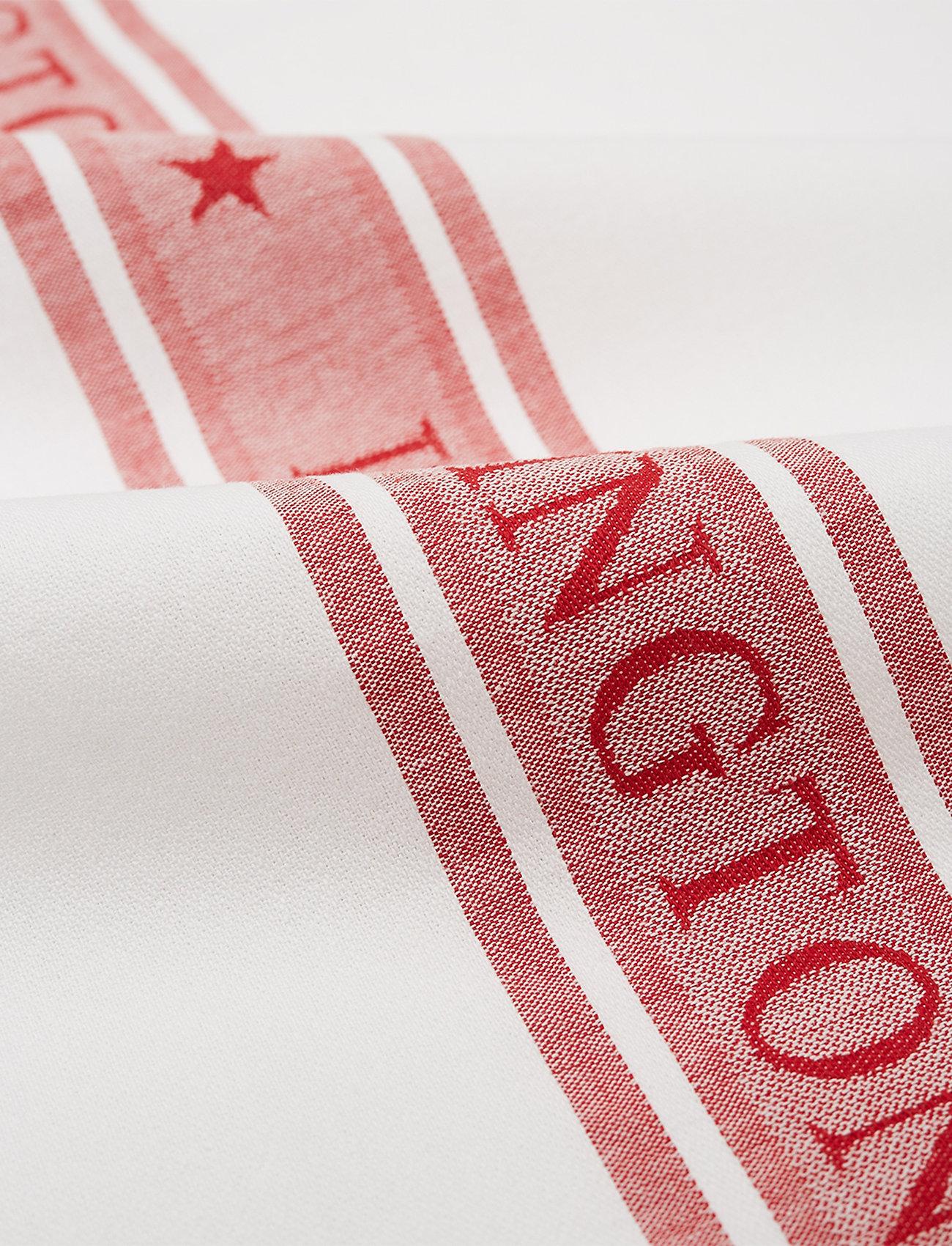 Lexington Home - Icons Cotton Jacquard Star Kitchen Towel - keittiöpyyhkeet - white/red - 1