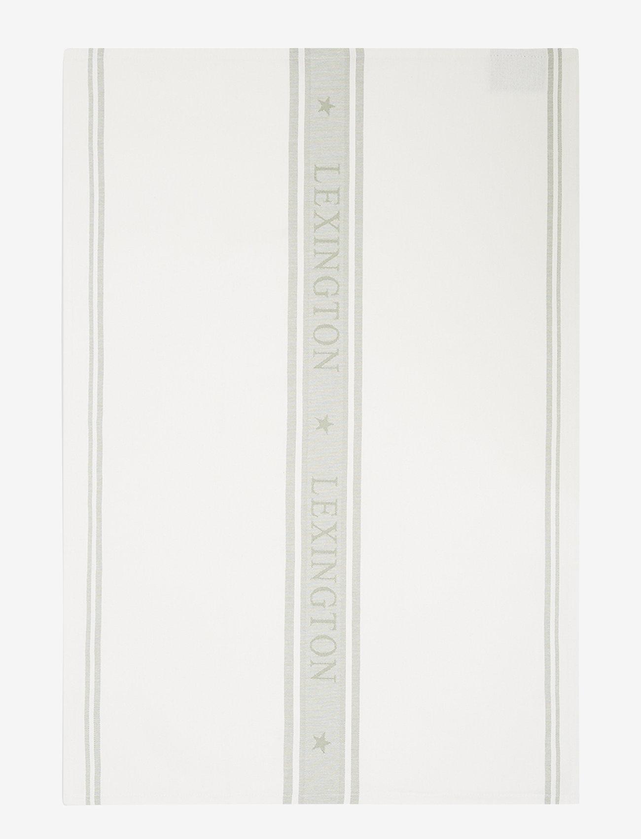Lexington Home - Icons Cotton Jacquard Star Kitchen Towel - keittiöpyyhkeet - white/sage green - 0