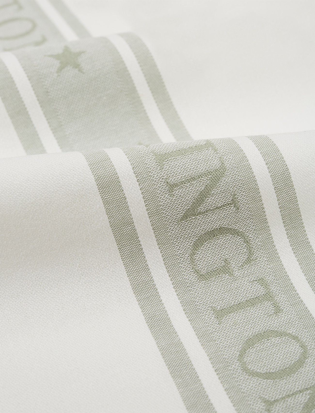 Lexington Home - Icons Cotton Jacquard Star Kitchen Towel - keittiöpyyhkeet - white/sage green - 1