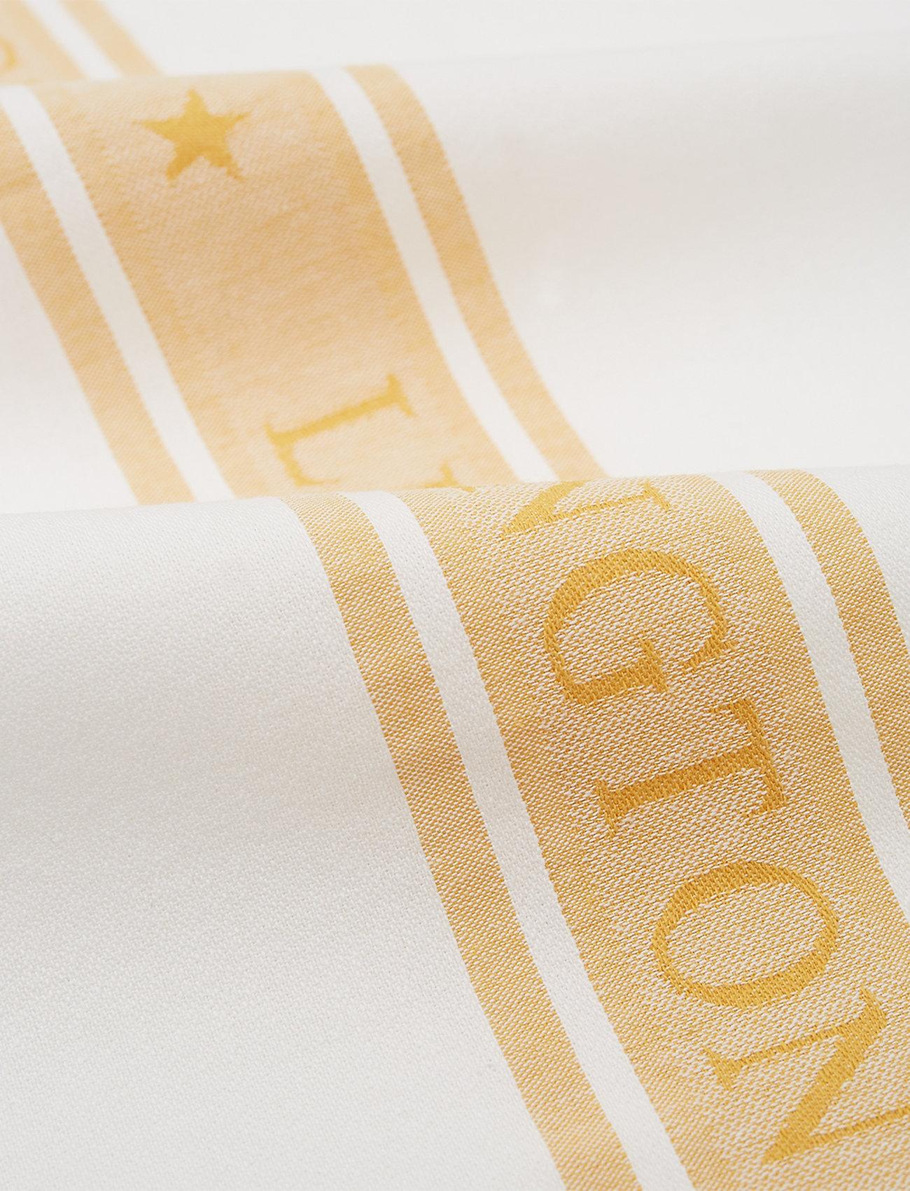 Lexington Home - Icons Cotton Jacquard Star Kitchen Towel - keittiöpyyhkeet - white/yellow - 1
