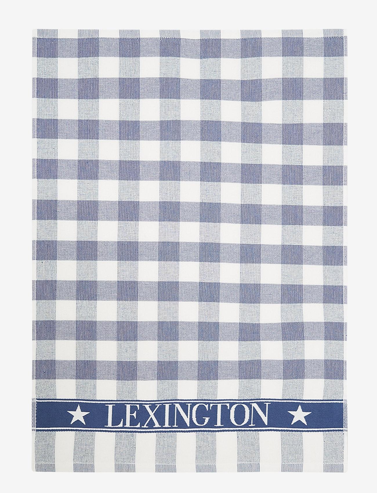 Lexington Home - Icons Checked Cotton Terry Kitchen Towel - ręczniki kuchenne - blue/white - 0