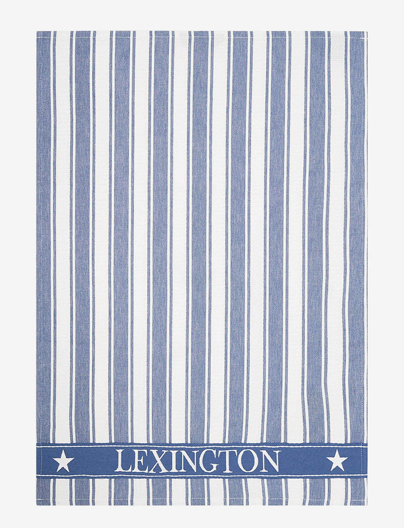 Lexington Home - Icons Cotton Twill Waffle Striped Kitchen Towel - ręczniki kuchenne - blue/white - 0