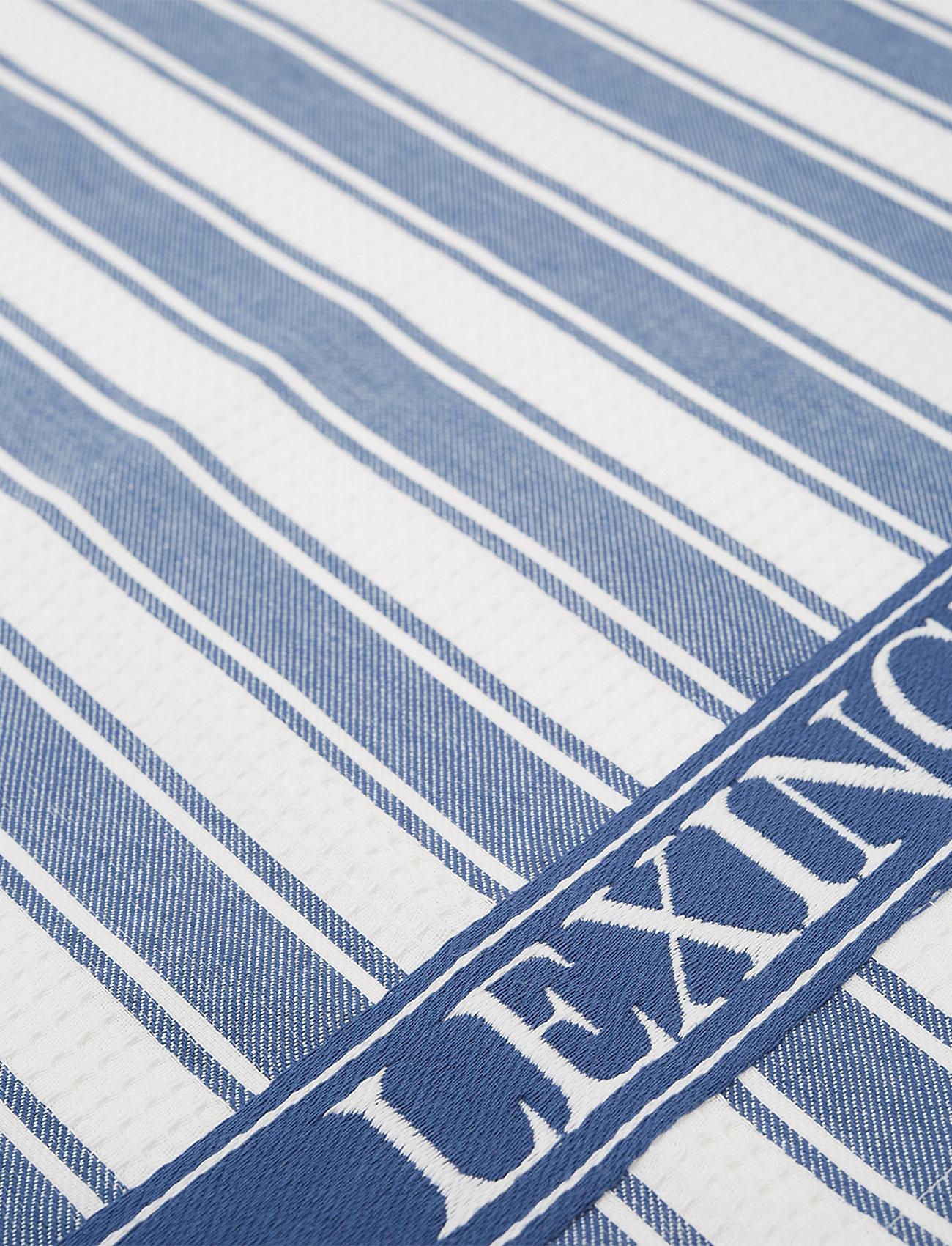 Lexington Home - Icons Cotton Twill Waffle Striped Kitchen Towel - ręczniki kuchenne - blue/white - 1