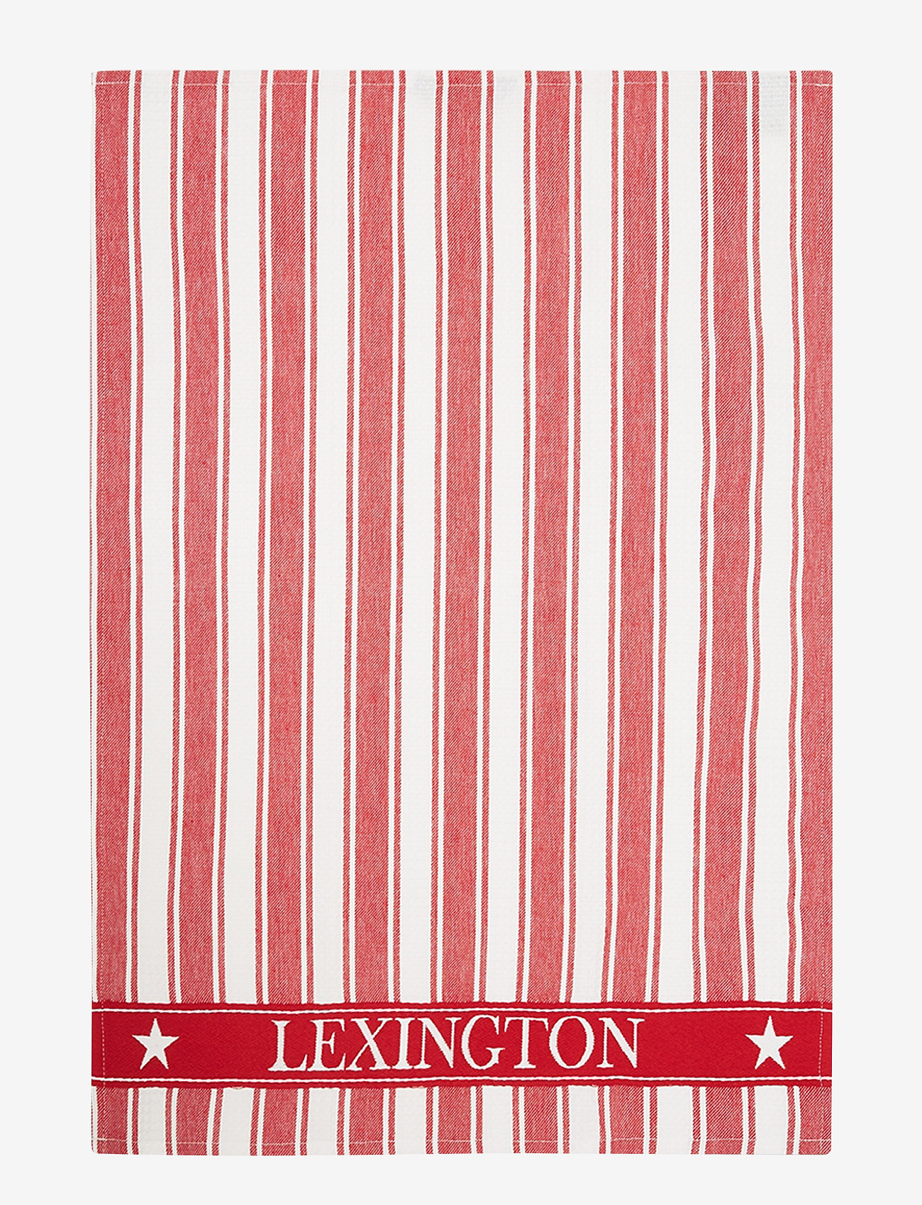 Lexington Home - Icons Cotton Twill Waffle Striped Kitchen Towel - torchons - red/white - 0