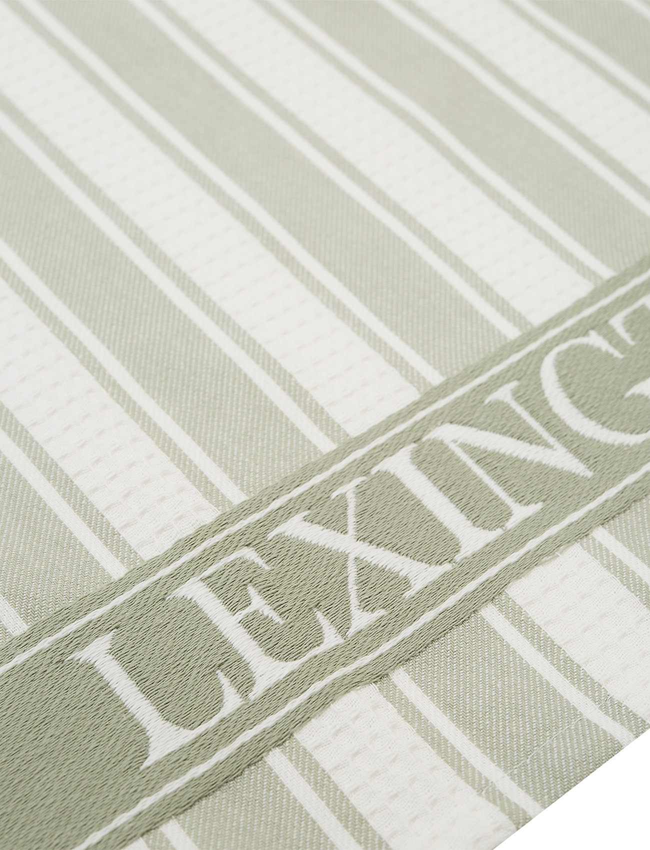 Lexington Home - Icons Cotton Twill Waffle Striped Kitchen Towel - ręczniki kuchenne - sage green/white - 1