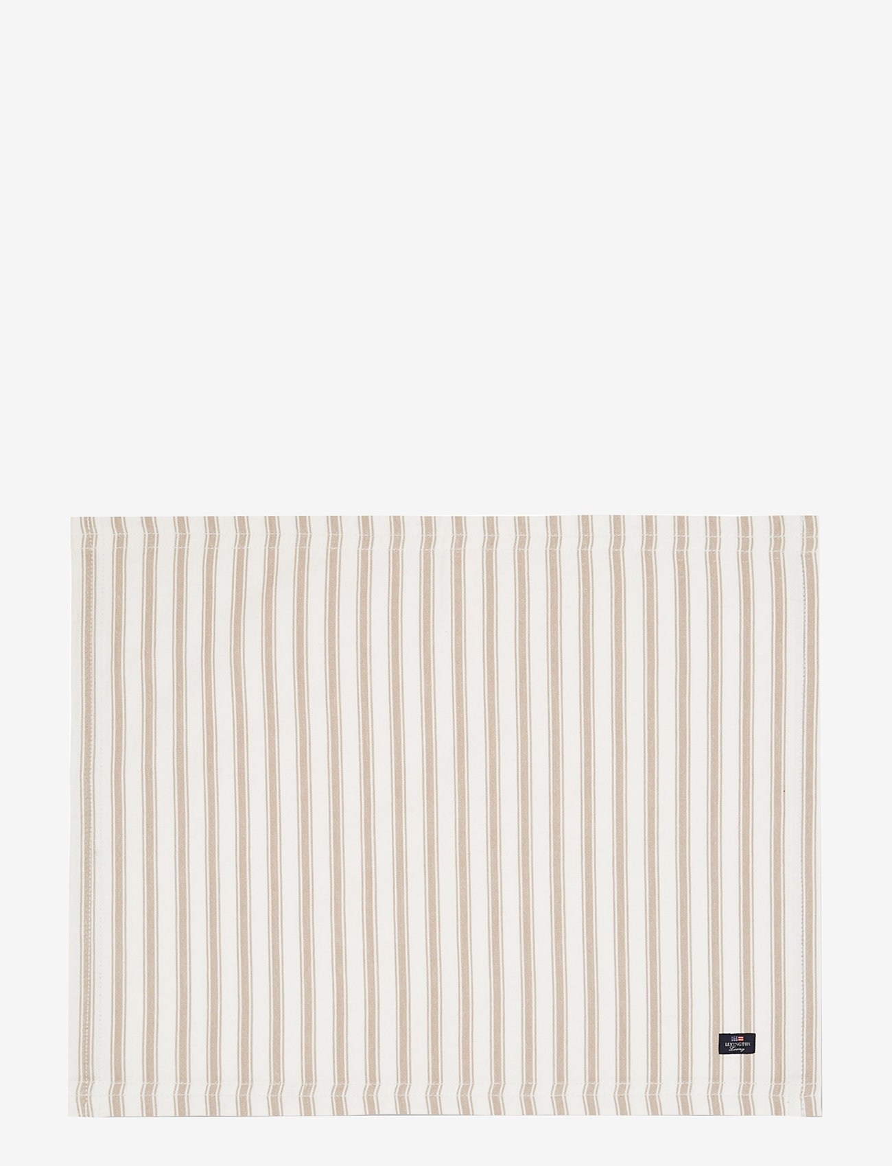 Lexington Home - Icons Cotton Herringbone Striped Placemat - pöytätabletit & lasinaluset - beige/white - 0