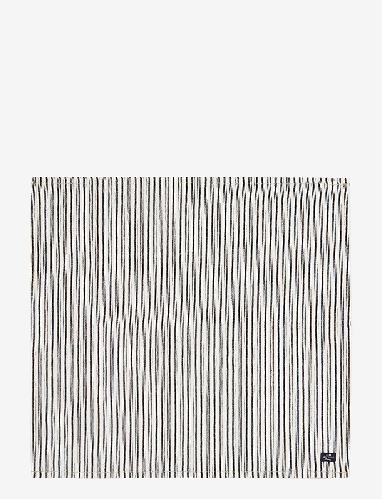 Lexington Home - Icons Cotton Herringbone Striped Napkin - pöytätabletit - black/white - 0