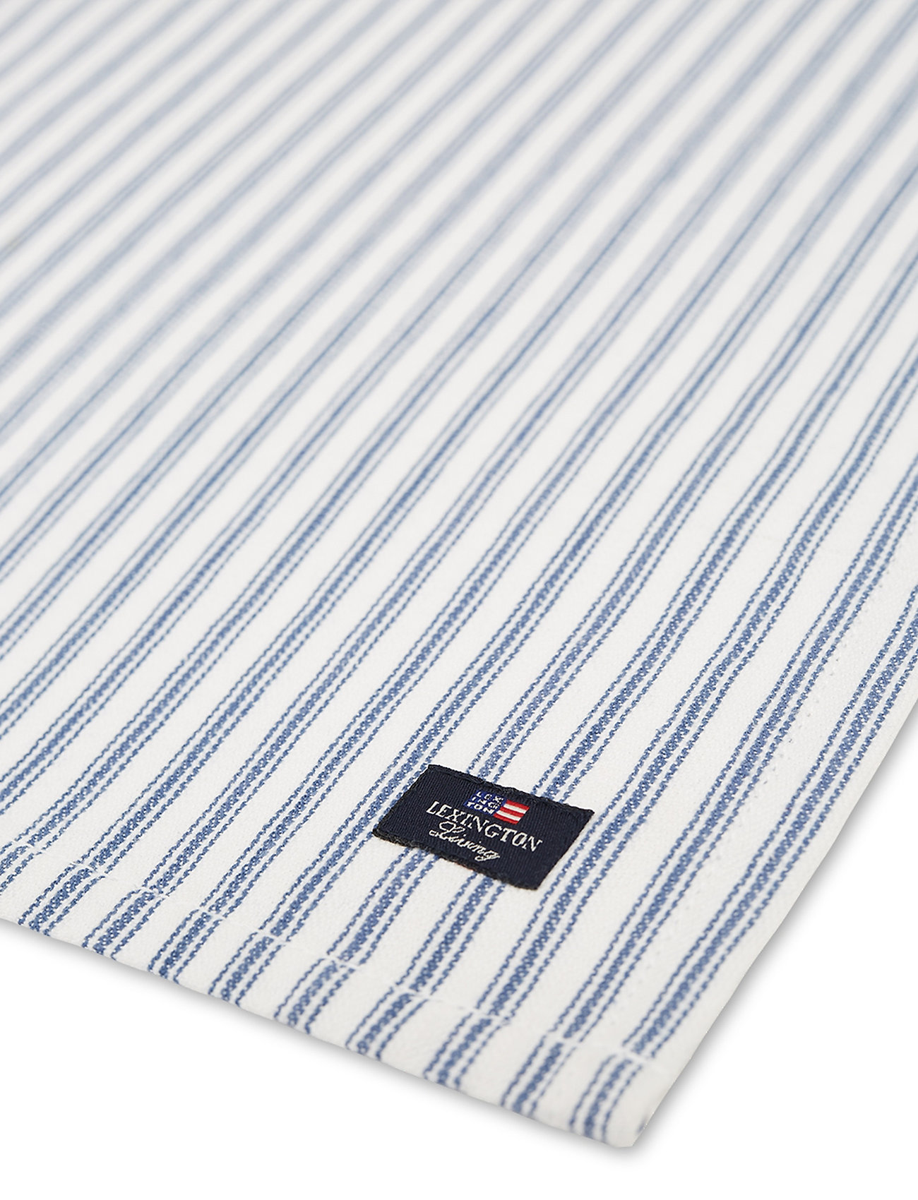 Lexington Home - Icons Cotton Herringbone Striped Napkin - pöytätabletit - blue/white - 1