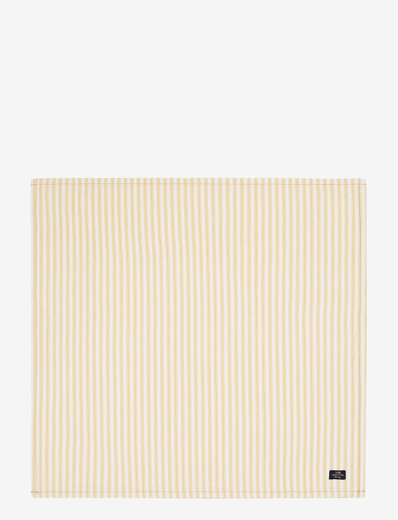 Lexington Home - Icons Cotton Herringbone Striped Napkin - pöytätabletit - yellow/white - 0