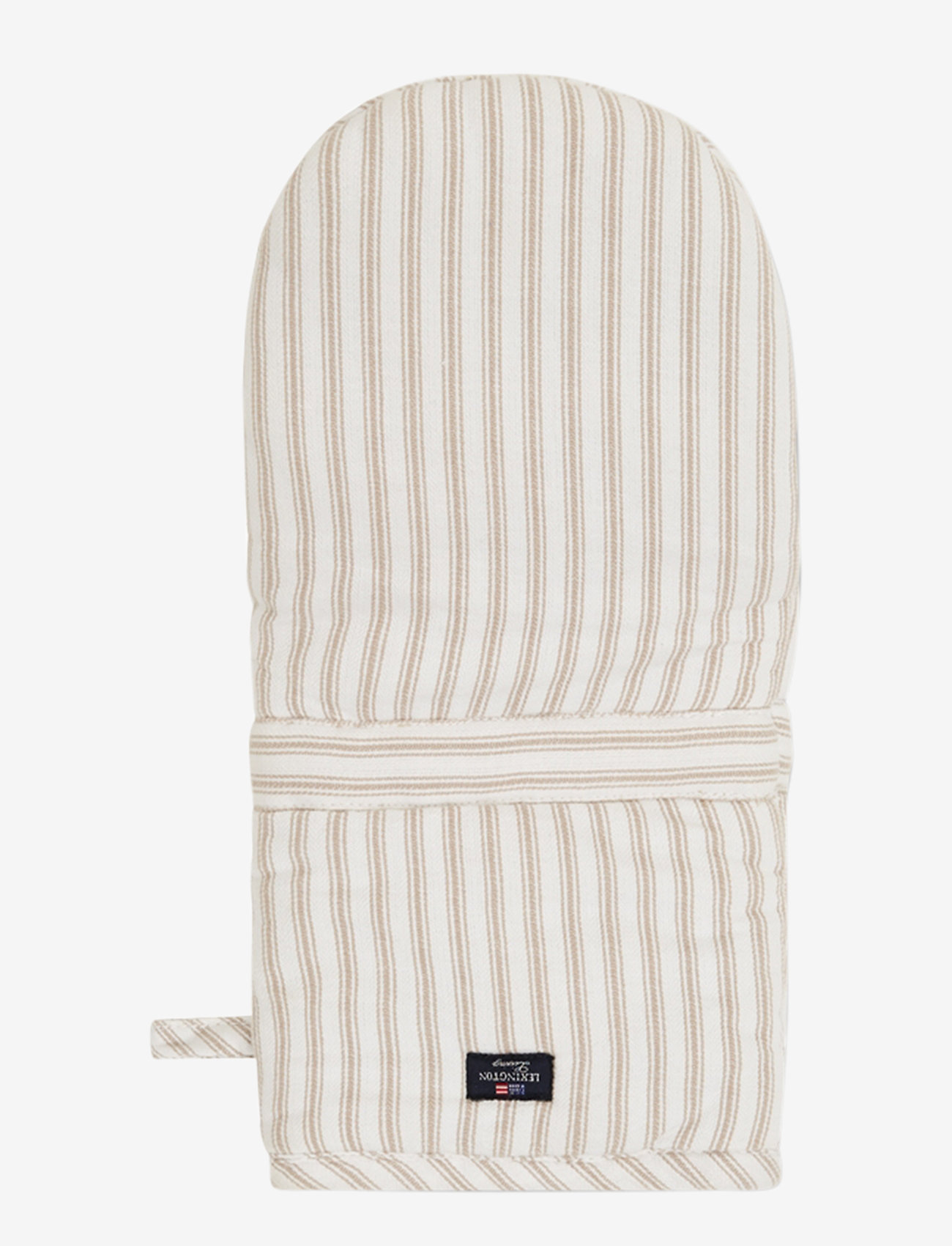 Lexington Home - Icons Cotton Herringbone Striped Mitten - pannulaput ja patakintaat - beige/white - 0