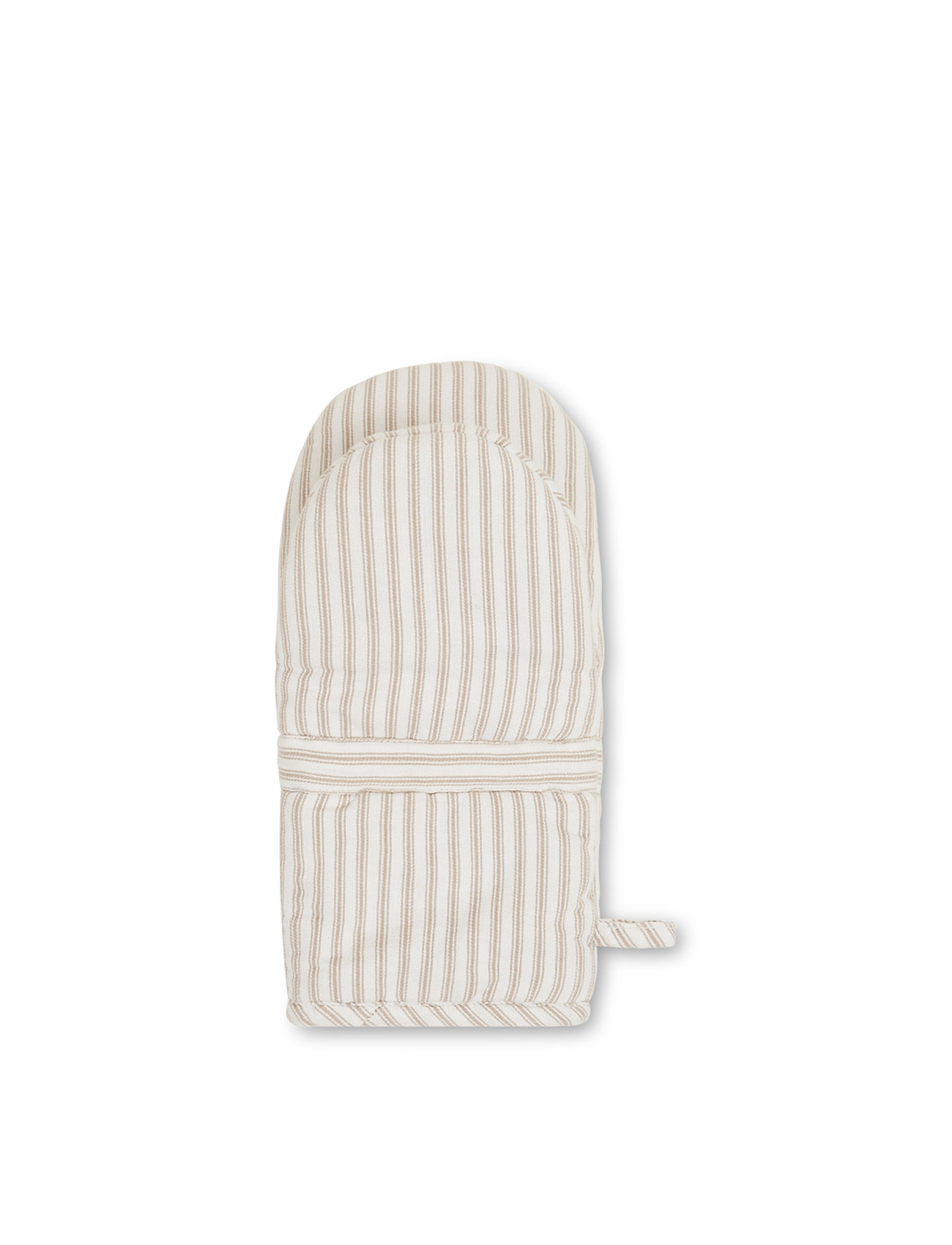 Lexington Home - Icons Cotton Herringbone Striped Mitten - pannulaput ja patakintaat - beige/white - 1