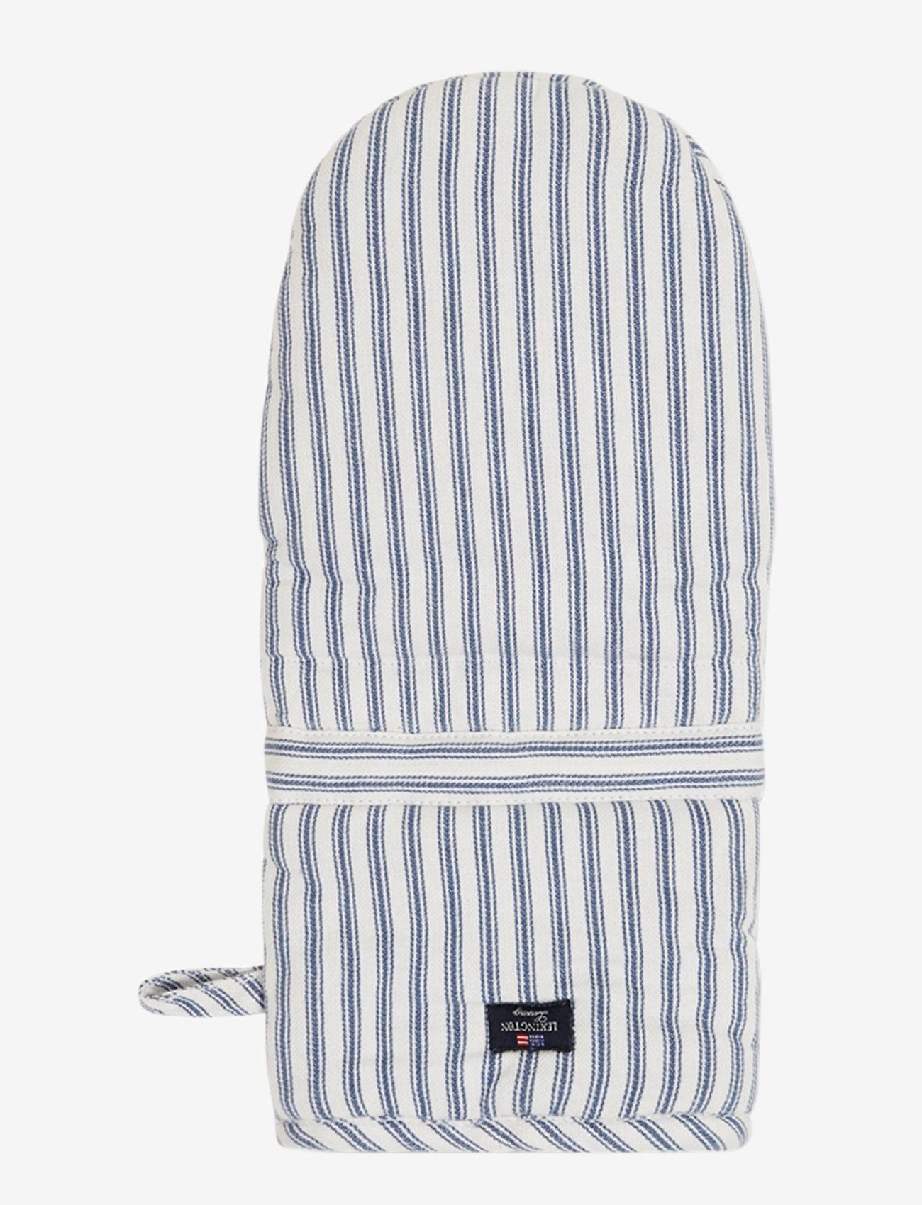 Lexington Home - Icons Cotton Herringbone Striped Mitten - mitaines de four, gants et maniques - blue/white - 0